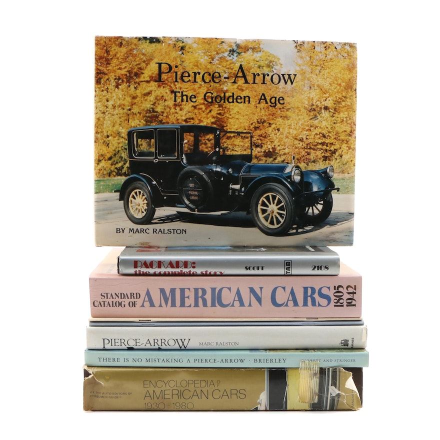 """Signed Limited Edition """"Pierce-Arrow: Golden Age"""" with More American Car Books"""