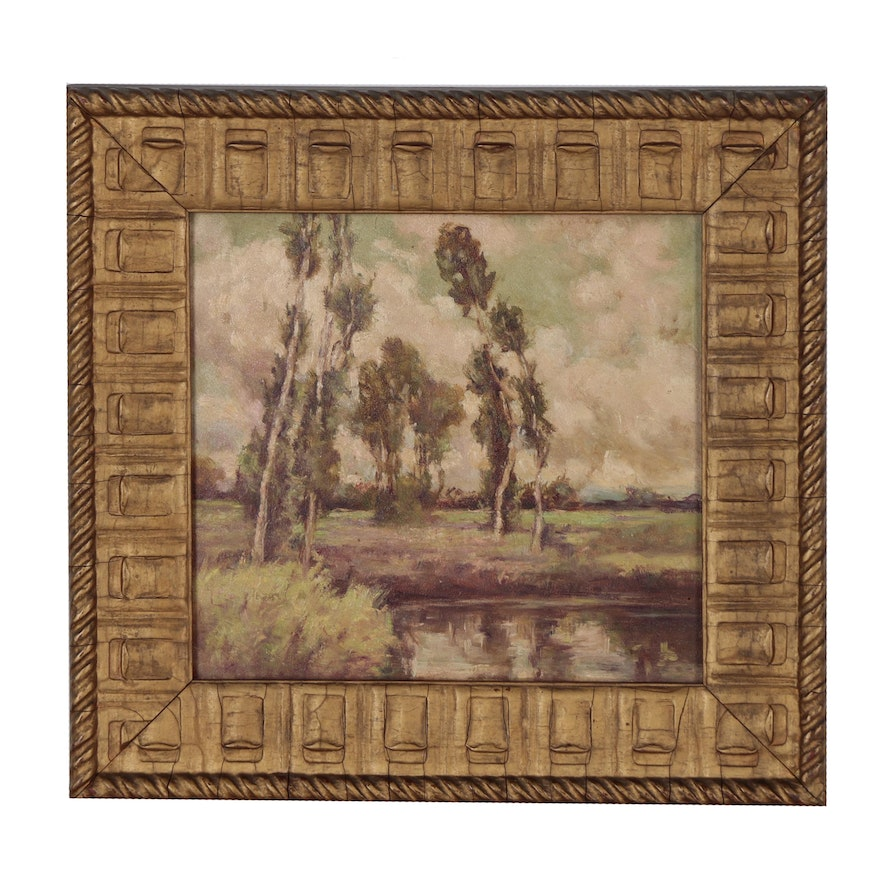 Landscape Oil Painting, Mid 19th Century