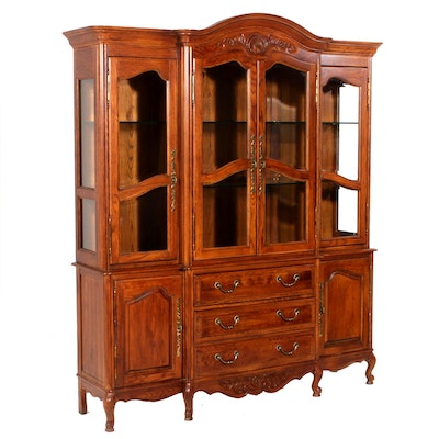 Romweber, Oak China Cabinet, Late 20th C.