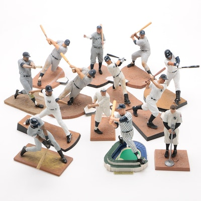 New York Yankees Baseball Action Figures with Jeter, Ruth, Gehrig, and More