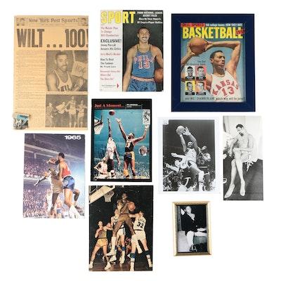 Wilt Chamberlain Philadelphia and Los Angeles NBA Basketball Photo Prints