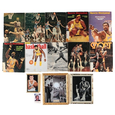 Wilt Chamberlain Signed Basketball Card and Photo Prints