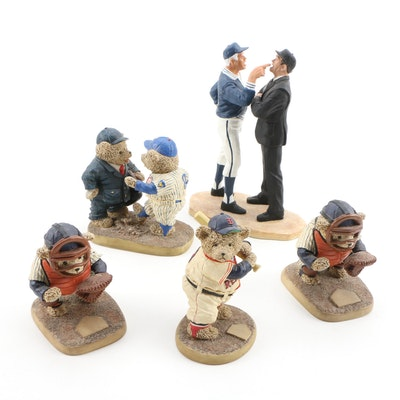 "Cooperstown Bears and Hartland ""The Confrontation"" Umpire-Manager Figures"