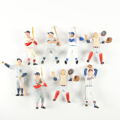 Hartland Re-Issue Plastic Baseball Action Figures Including Stan Musial, 1988
