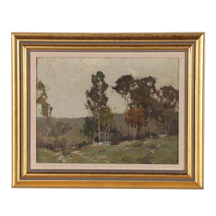 Chauncey Foster Ryder Landscape Oil Painting