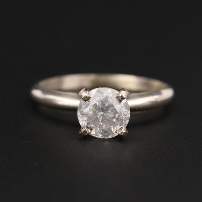 14K White Gold 1.23 CT Diamond Solitaire Ring