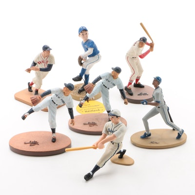 """Ford, Musial, Williams, Griffey Jr., Greenberg and """"Boy Pitcher"""" Figures"""