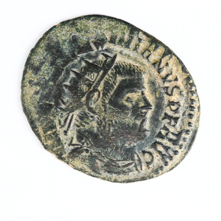 Ancient Roman AE Post-Reform Radiate Fraction Coin of Maximianus, 295 A.D.