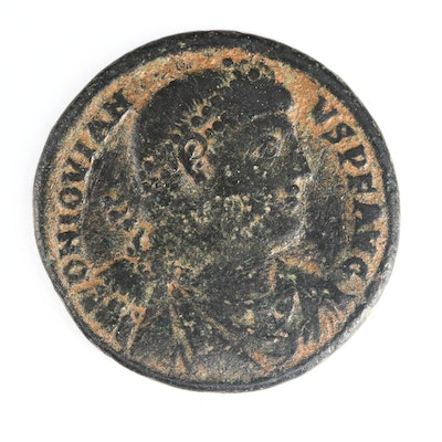 Ancient Roman Imperial AE1 of Jovian, ca. 363 A.D.