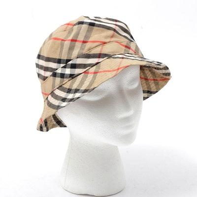 Children's Burberry Check Bucket Hat