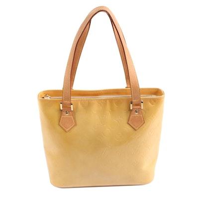 Louis Vuitton Houston Shoulder Bag in Mango Vernis and Vachetta Leather