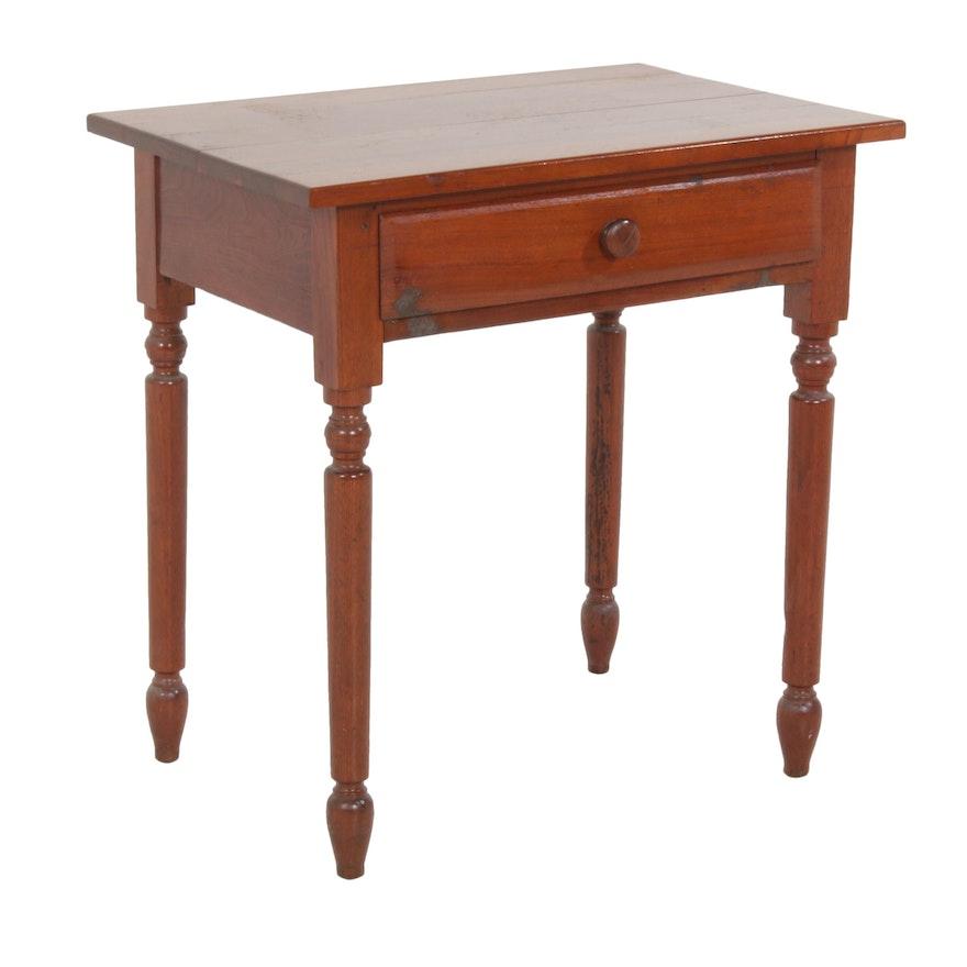 American Primitive Walnut Side Table, circa 1900