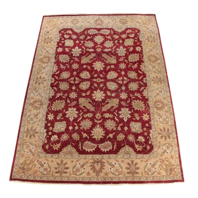 9'6 x 13'5 Hand-Knotted Indian Agra Wool Area Rug