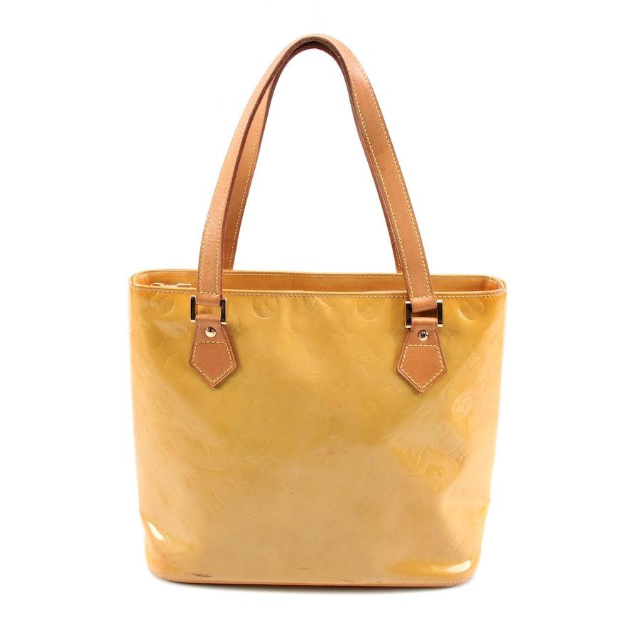 Louis Vuitton Houston Tote in Mango Monogram Vernis and Vachetta Leather