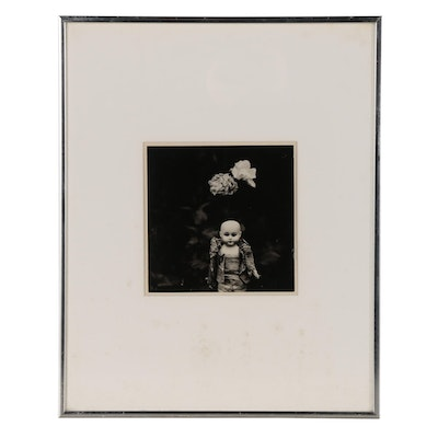 Ralph Eugene Meatyard Silver Gelatin Print of Doll with Roses