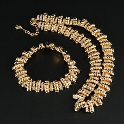 Camros & Kross JBK Rhinestone Necklace and Bracelet
