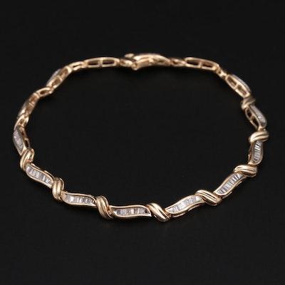 14K Yellow Gold 1.01 CTW Diamond Bracelet