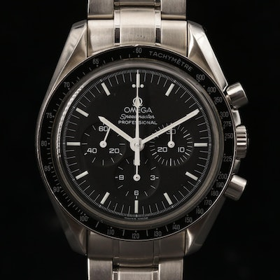Omega Speedmaster Professional Moonwatch 42mm Stainless Stem Wind Wristwatch