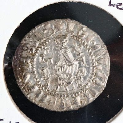 Cilician Armenia AR Tram Coin of Levon I, ca. 1200