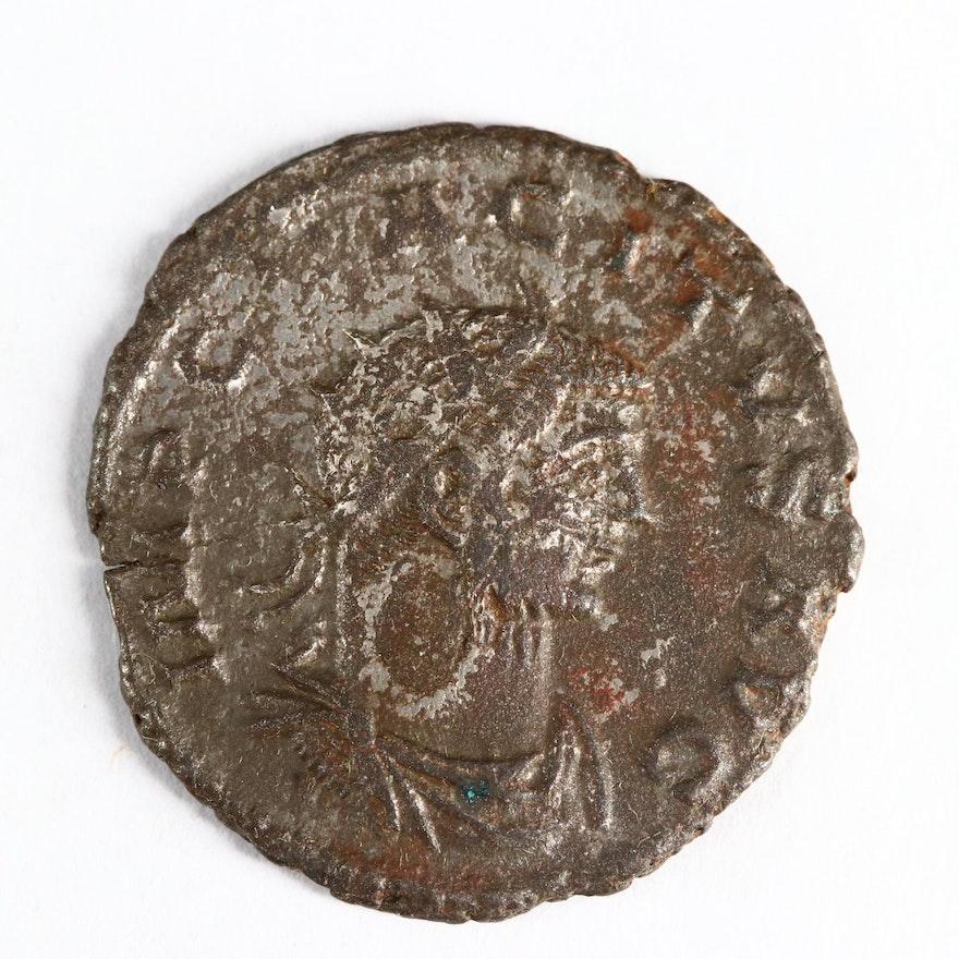 Ancient Roman Imperial AE Silvered Antoninianus of Tacitus, ca. 275 A.D.