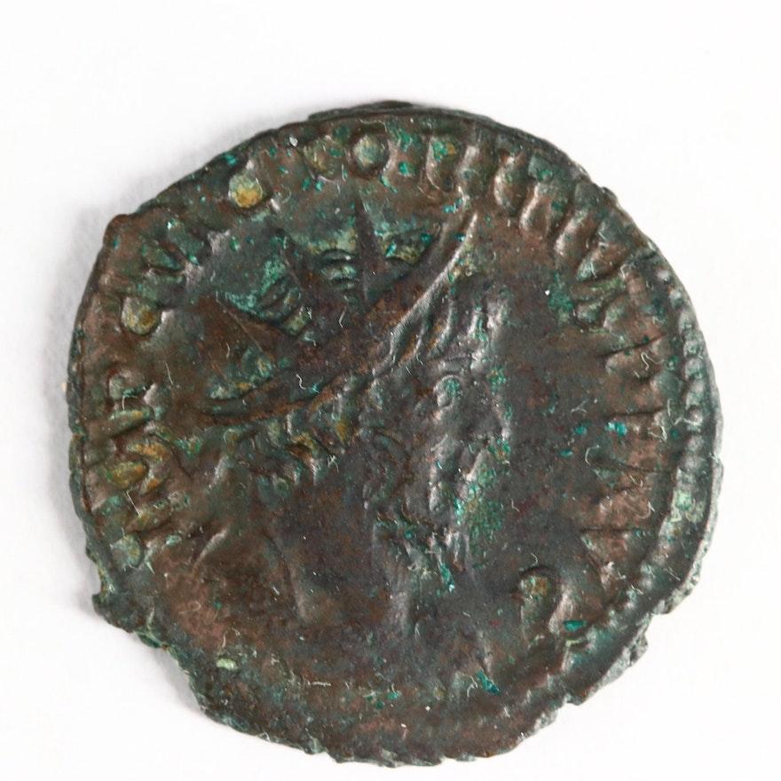 Ancient Roman Imperial AE Antoninianus of Victorinus, ca. 268 A.D.