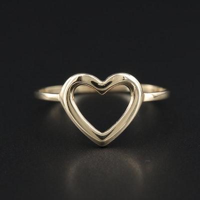 14K Yellow Gold Heart Ring