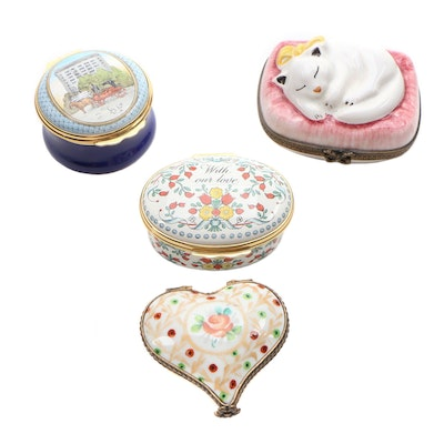 Limoges and Halcyon Days Trinket Boxes
