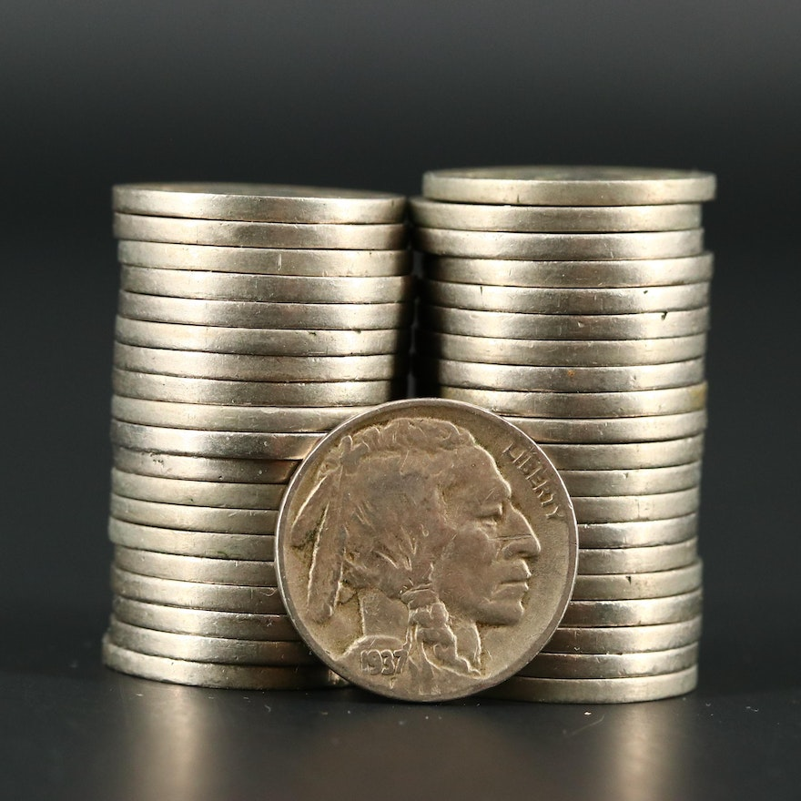 Forty Mint Marked Buffalo Nickels