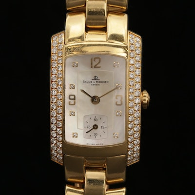 Baume & Mercier Hampton 18K Gold and 1.30 CTW Diamond Quartz Wristwatch