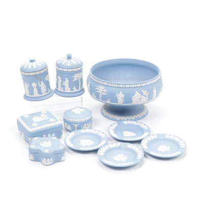 Wedgwood Jasperware Centerpiece and Other Table Accessories