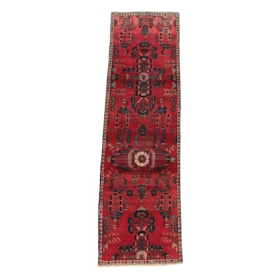 2'5 x 9'1 Hand-Knotted Persian Hamadan Wool Carpet Runner