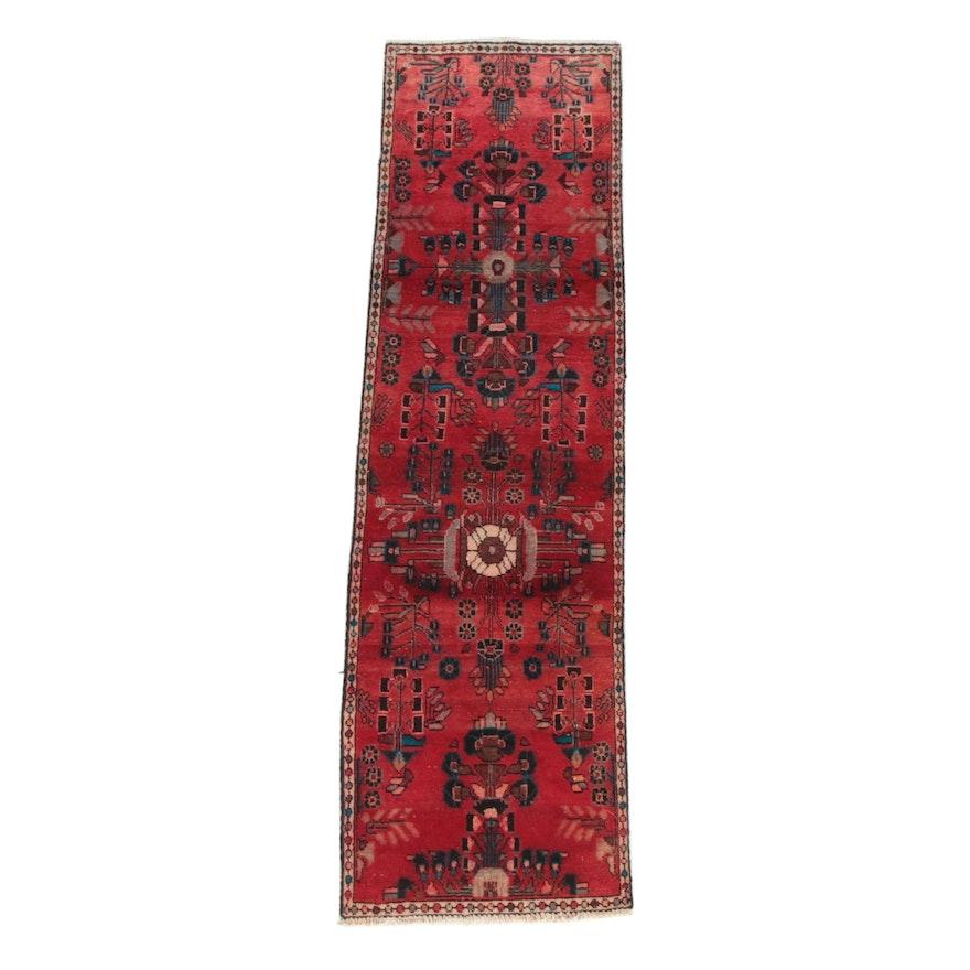 2'5 x 9'1 Hand-Knotted Persian Hamadan Wool Carpet Runner