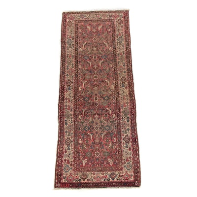 3'3 x 8'7 Hand-Knotted Persian Hamadan Wool Long Rug
