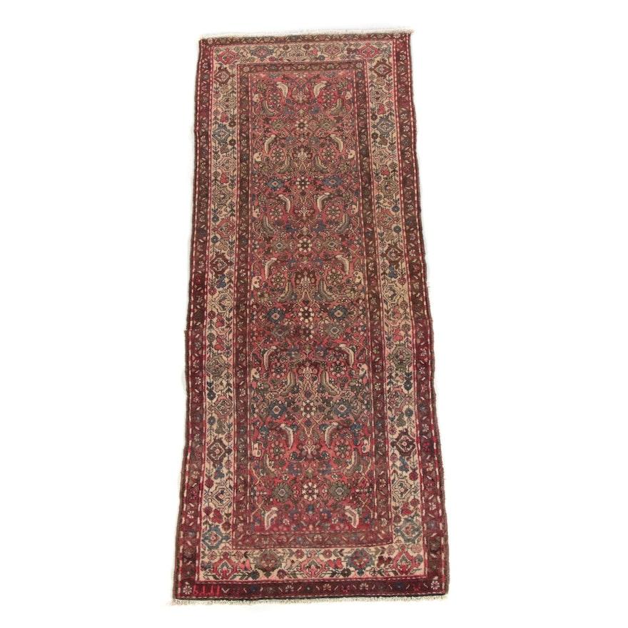 3'3 x 8'7 Hand-Knotted Persian Hamadan Wool Long Rug