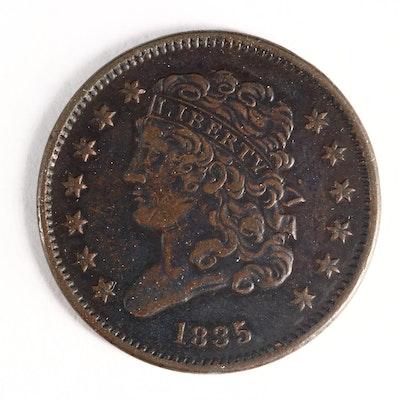 1835 Classic Head Half Cent