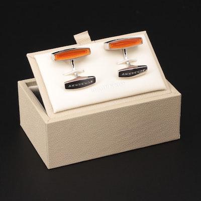 Burberry Enamel Cufflinks with Burberry Box