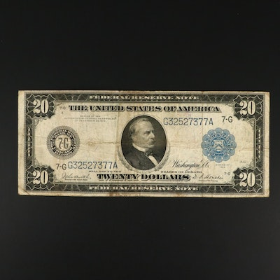 1914 Twenty Dollar Federal Reserve Large Currency Note