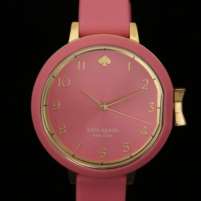 Kate Spade Park Row Gold Tone Quartz Wristwatch