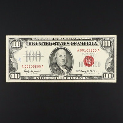 1966 $100 United States Note With Red Seal