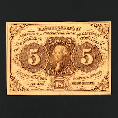 1862 First Issue United States Five Cent Fractional Currency Note