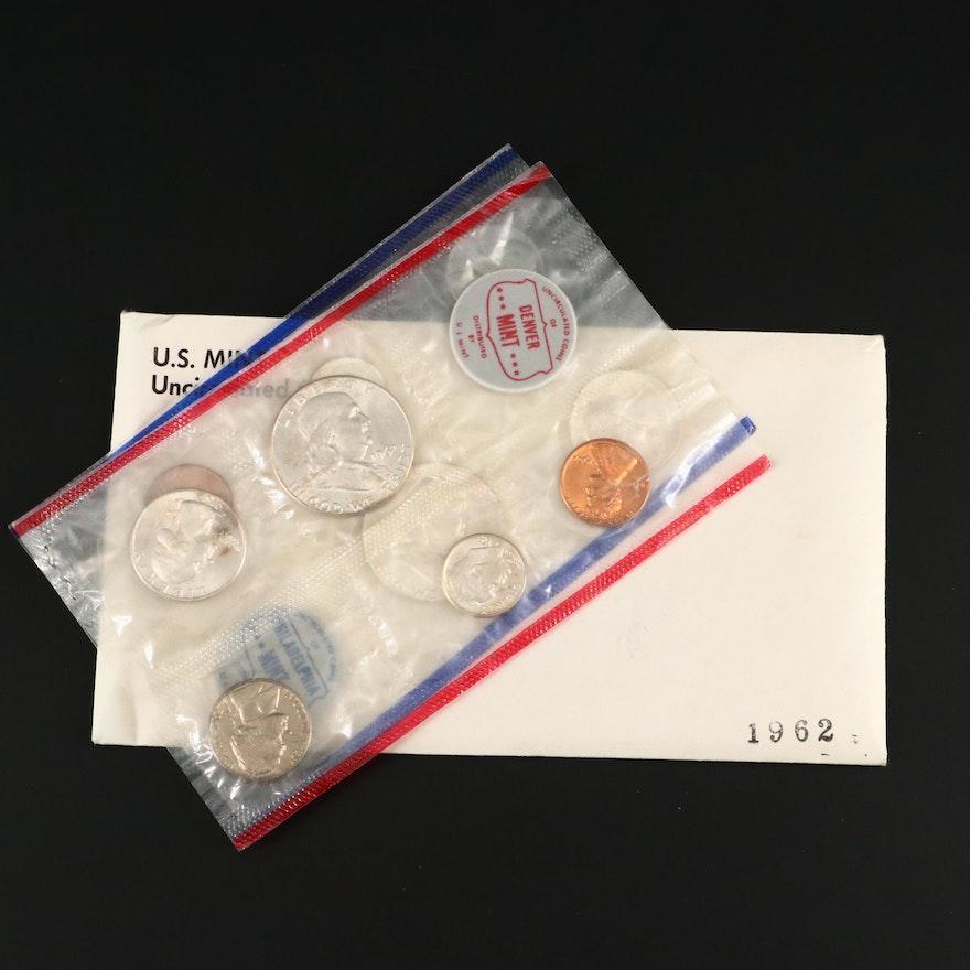 1962 United States Uncirculated Denver and Philadelphia Mint Set