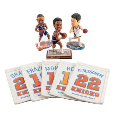 New York Knicks Madison Square Banners with Bobblehead Dolls