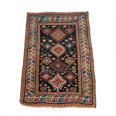 4'4 x 6'6 Antique Hand-Knotted Kurdish Wool Rug