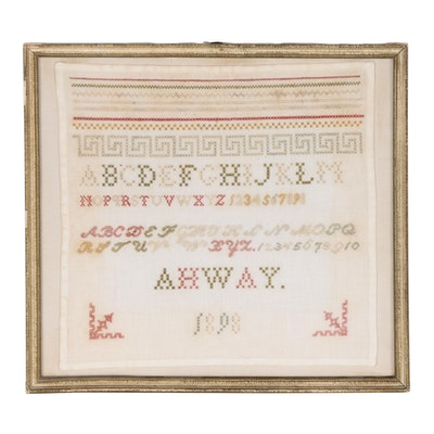 Needlework Training Alphabet and Marking Sampler, 1898