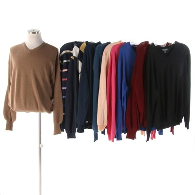 Men's Brooks Brothers and Paul Stuart Knit V-Neck Pullovers