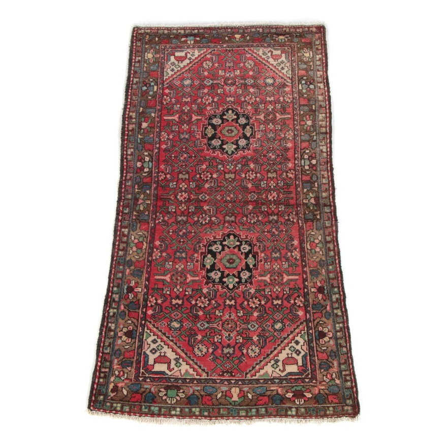 3'5 x 6'11 Hand-Knotted Persian Malayer Wool Rug