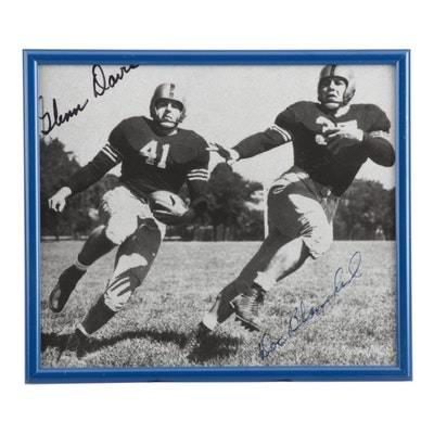 Glen Davis and Doc Blanchard Signed United States Army NCAA Football Photo Print