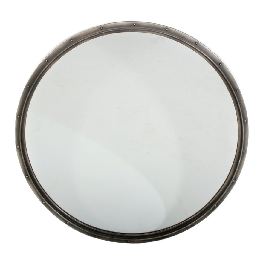 Restoration Hardware Metal Rivet Mirror, Contemporary