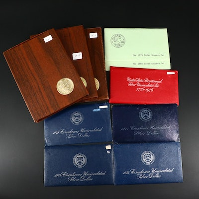 Various U.S. Mint Coins Including 1979 and 1980 Susan B. Anthony Dollar Sets