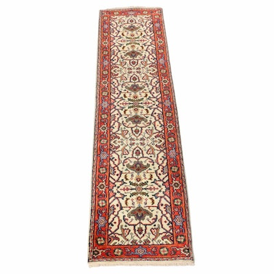 2'6 x 9'11 Hand-Knotted Indo-Persian Heriz Runner
